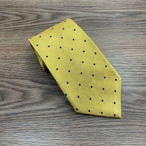 Brooks Brothers Gold w/ Navy Polka Dot Tie